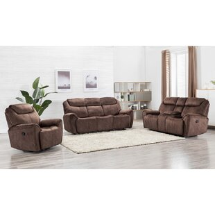 Paradise 3 Piece Reclining Living Room Set by Red Barrel Studio®