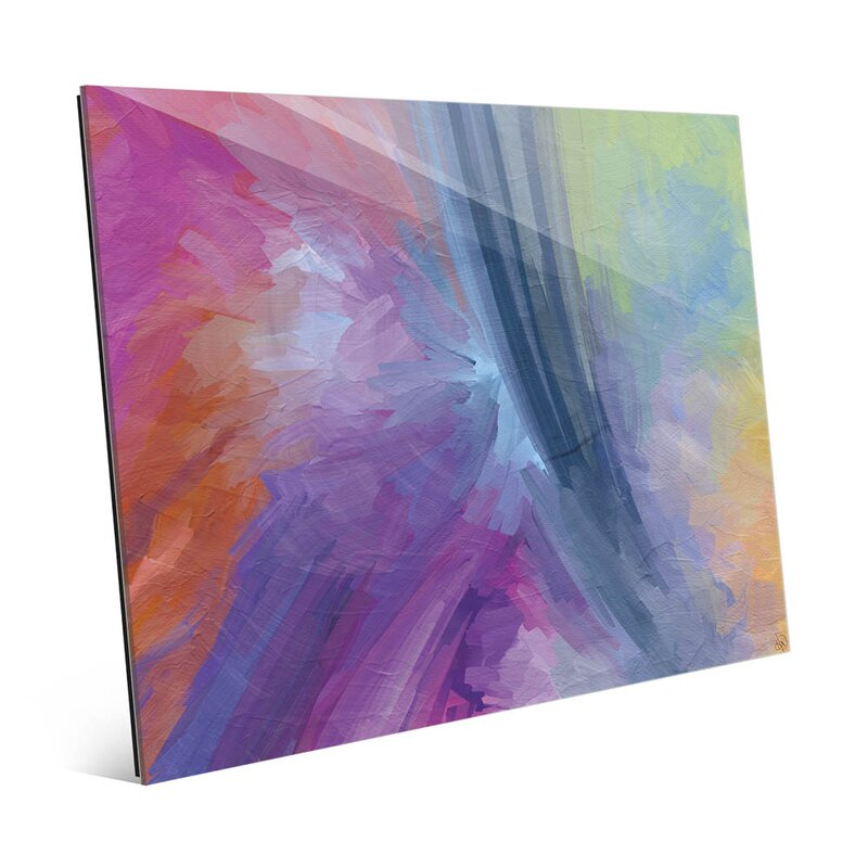 'Paint Rainbow' Print of Painting on Glass