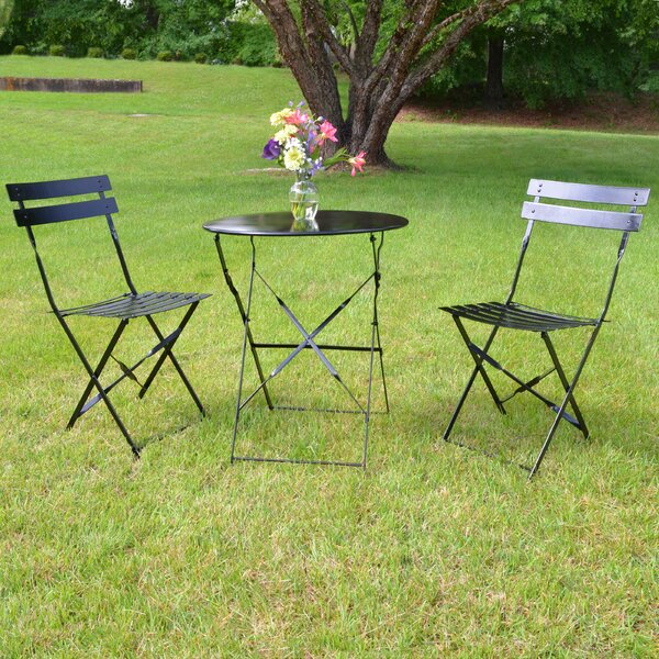 Bleich 3 Piece Bistro Set by Mercury Row