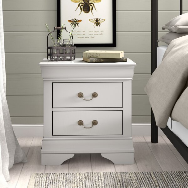 Guffey 2 Drawer Wood Veneer Nightstand by Laurel Foundry Modern Farmhouse