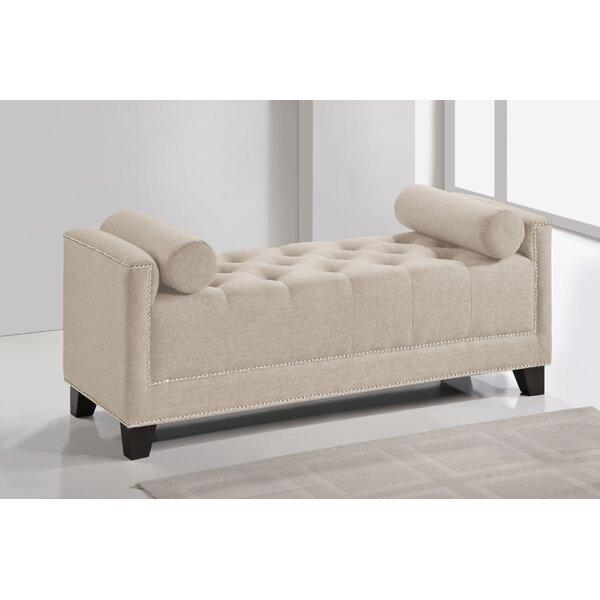 Baxton Studio Hirst Upholstered Bench by Wholesale Interiors