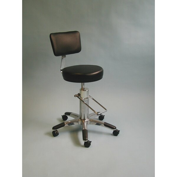 Aine Height Adjusts Stool with Backrest