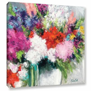 'Flower Market Frenzy' Painting Print on Wrapped Canvas by Willa Arlo Interiors