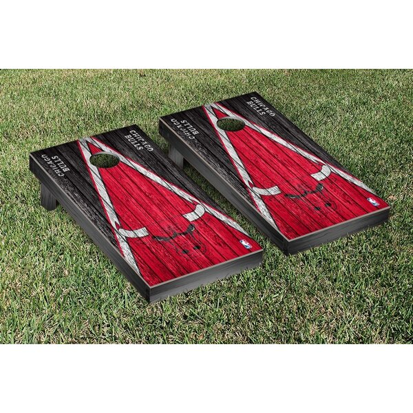 NBA Triangle Weathered Version Cornhole Game Set by Victory Tailgate