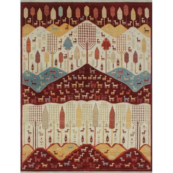 Woodmoor Chobi Hand Knotted Wool Ivory Oriental Area Rug by Loon Peak