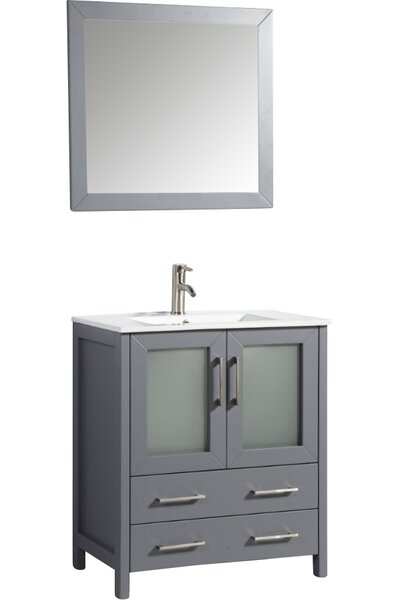 Nevels 30 Single Bathroom Vanity Set with Mirror by Ebern Designs