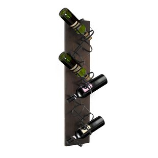 Compare prices Sherlene 6 Bottle Mounted Wine Rack By17 Stories