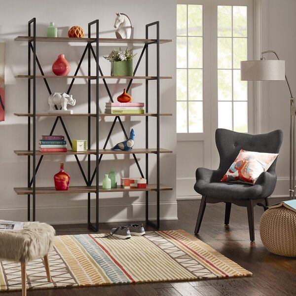 Madina Library Bookcase By Kingstown Home
