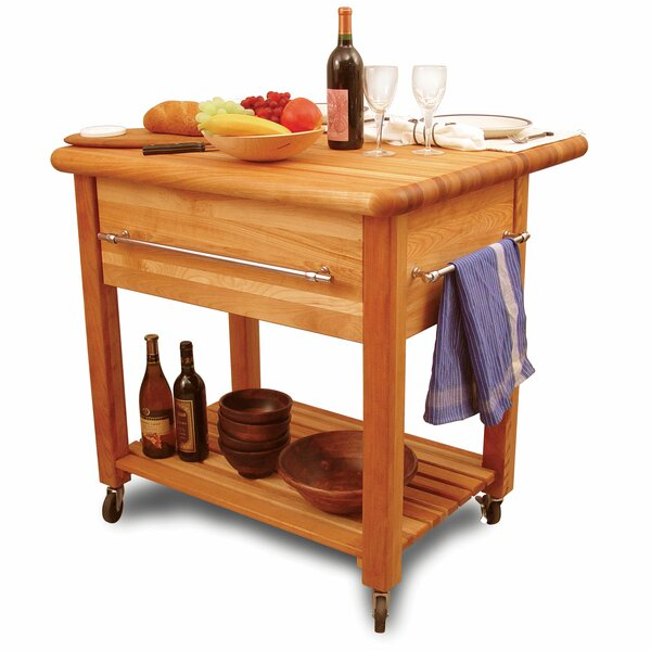 Grand Workcenter Solid Wood Kitchen Cart by Catskill Craftsmen, Inc.