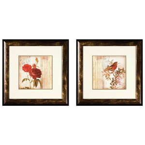 Song Bird Giclee Framed 2 Piece Graphic Art Print Set by PTM
