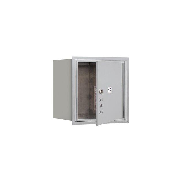Recessed Private Aluminum 1 Unit 4C Horizontal Parcel Locker by Salsbury Industries
