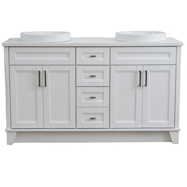 Corvena 61'' Double Bathroom Vanity Set