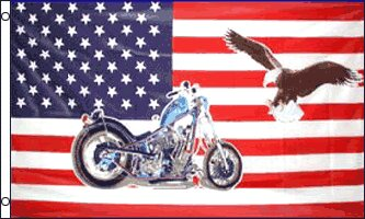 USA Motorcycle Eagle Traditional Flag by Flags Importer
