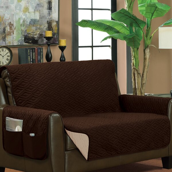 Classic Reversible Quilted Box Cushion Sofa Slipcover By Symple Stuff