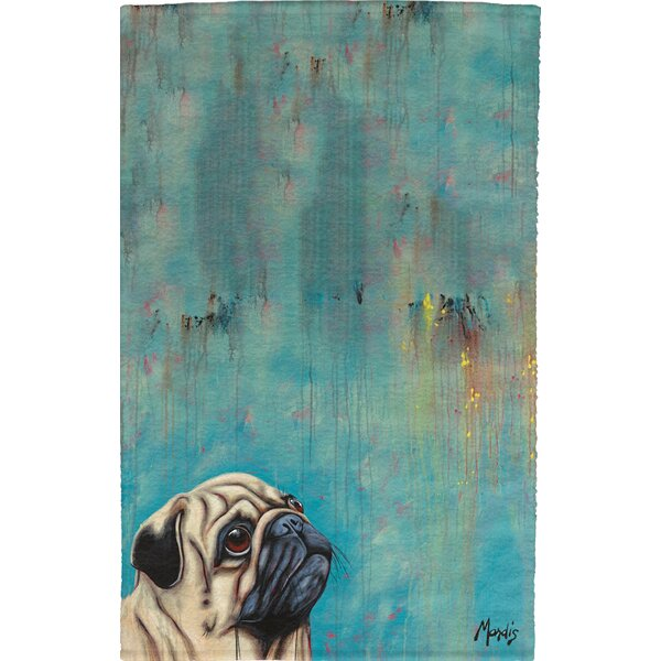 Pug Full Face Hand Towel (Set of 2) by East Urban Home