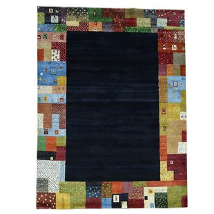 Buying One-of-a-Kind Rossman Folk Hand-Knotted Black Area Rug By Loon Peak