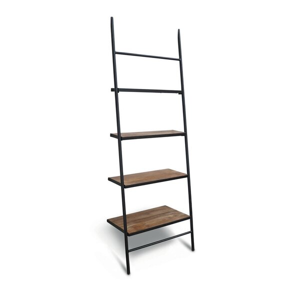 Burkholder Wood Leaning Ladder Bookcase by Gracie Oaks