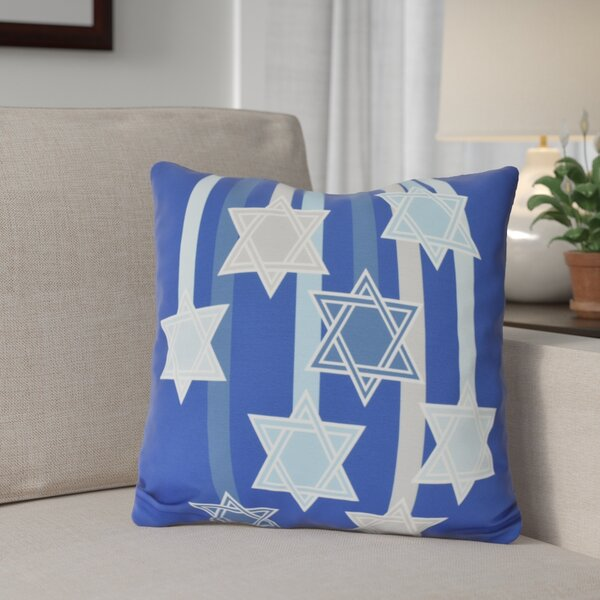 Shooting Stars Geometric Print Outdoor Throw Pillow by The Holiday Aisle