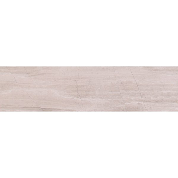 White Oak 6 x 24 Marble Field Tile in White by MSI