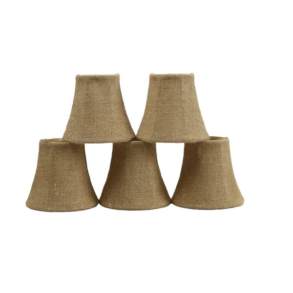 5 Burlap Bell Candelabra Shade (Set of 5) by Bay Isle Home