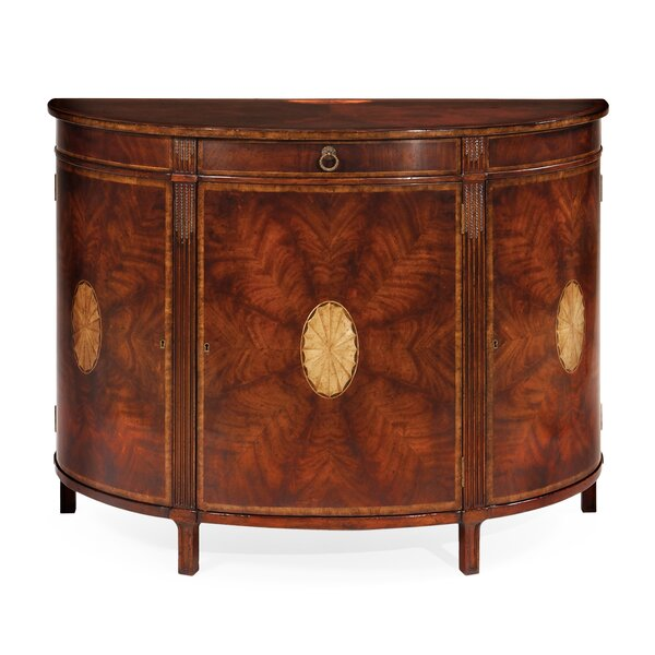 Buckingham Crotch Demilune Accent Cabinet by Jonathan Charles Fine Furniture