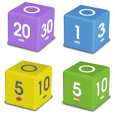 Miracle Cube Timer (Set of 4) by Datexx