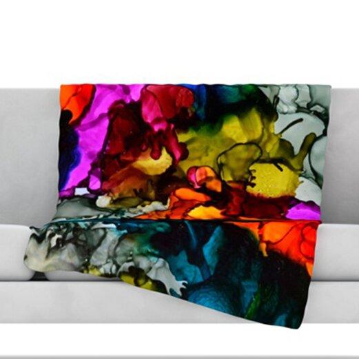 Hippie Love Child Throw Blanket by KESS InHouse