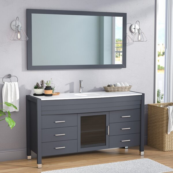 Frausto 61 Single Bathroom Vanity Set with Mirror by Brayden Studio