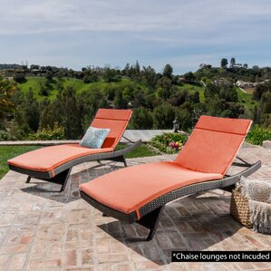 Outdoor Chaise Lounge Cushion (Set of 2) : patio chaise cushion - Sectionals, Sofas & Couches