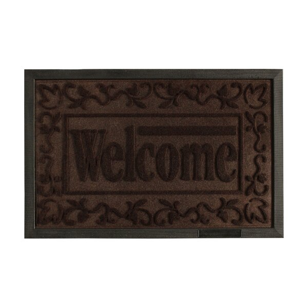 Welcome Engraved Doormat by Attraction Design Home