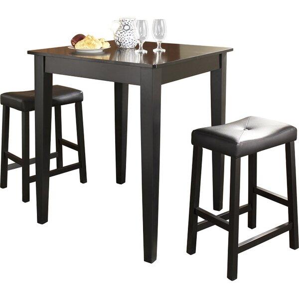 Haslingden 3 Piece Pub Table Set by Three Posts