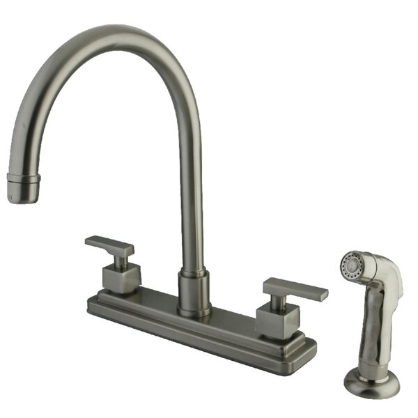 Executive Double Handle Kitchen Faucet with Side Spray by Kingston Brass