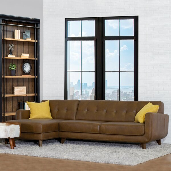 Home & Outdoor Elva Leather Sectional