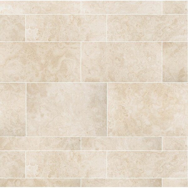 Macro Plank 36 x 8 Travertine Field Tile in Ivory Honed by Parvatile