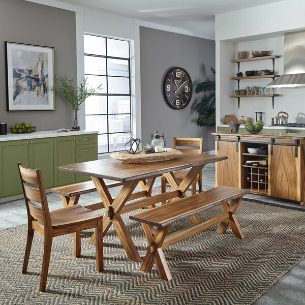 Wynter Forest Retreat 5 Piece Dining Set by Millwood Pines Millwood Pines
