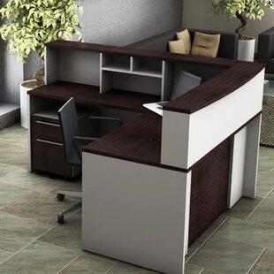 5 Piece L-Shape Desk Office Suite ByOfisLite