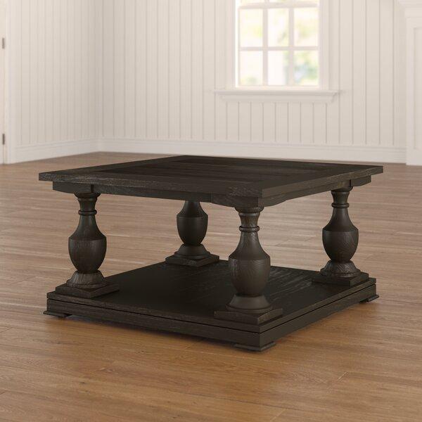 Raheem Floor Shelf Coffee Table With Storage By Three Posts