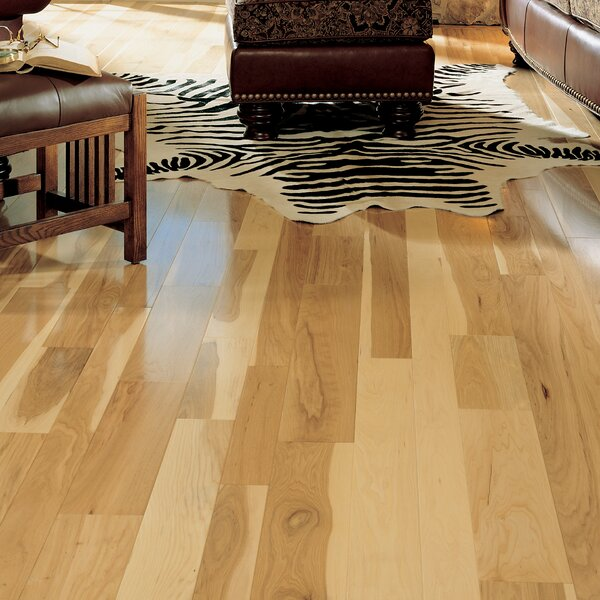 Character 4 Solid Hickory Hardwood Flooring in Natural by Somerset Floors