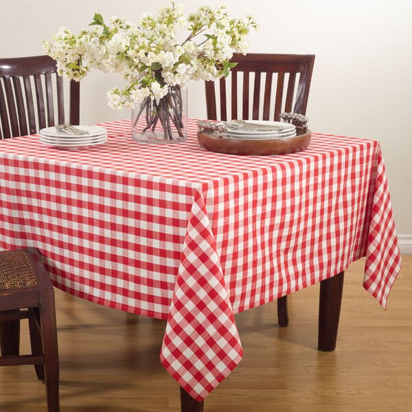 Saro Gingham Design Tablecloth by Saro