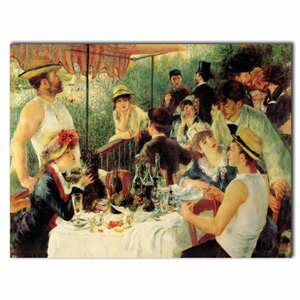 Luncheon of the Boating Party by Pierre-Auguste Renoir Painting Print on Wrapped Canvas by Trademark Fine Art
