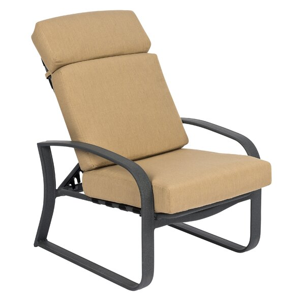 Cayman Isle Adjustable Patio Chair with Cushions by Woodard