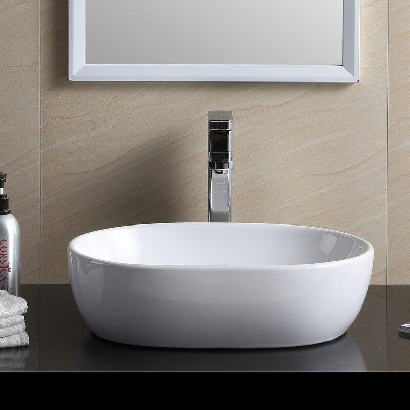 Fine Fixtures Modern Vitreous China Oval Vessel Bathroom