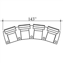 Showtime Home Theater Row Seating (Row Of 4) By Bass