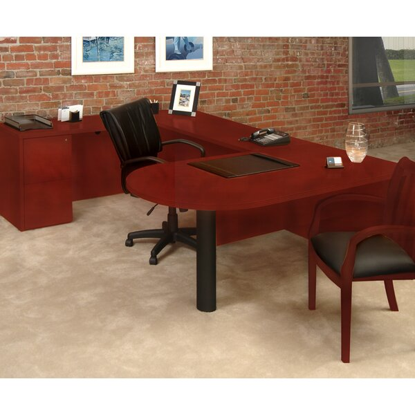 Luminary Series U-Shape Executive Desk by Mayline Group