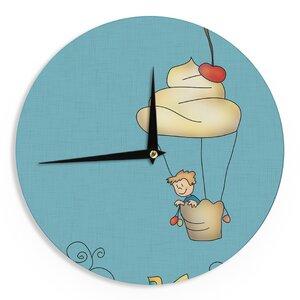 Carina Povarchik 'Sweet World' 12″ Wall Clock
