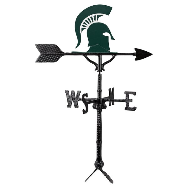 Michigan State Helmet Logo Weathervane by Montague Metal Products Inc.