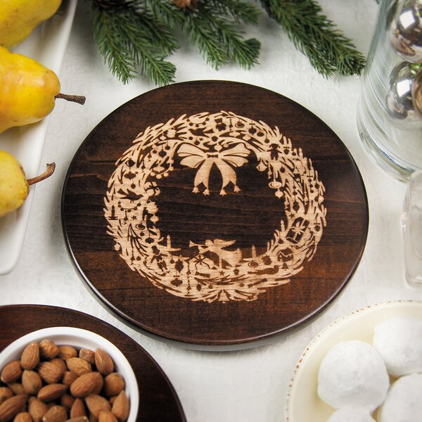 Vintage Christmas Wreath Trivet by Martins Homewares