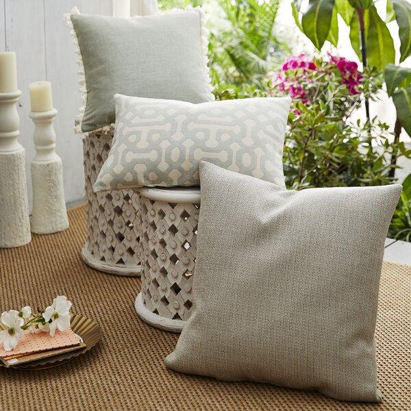 Coastal Fretwork 3 Piece Indoor/Outdoor Sunbrella Pillow Set by Patina Vie