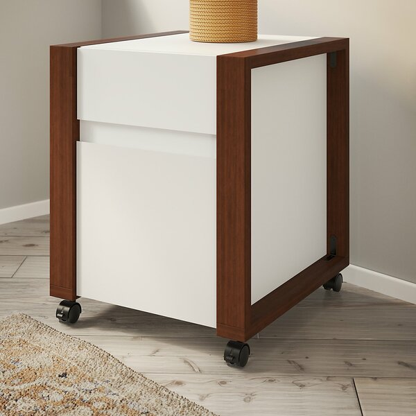 Voss 2 Drawer Mobile Vertical Filing Cabinet