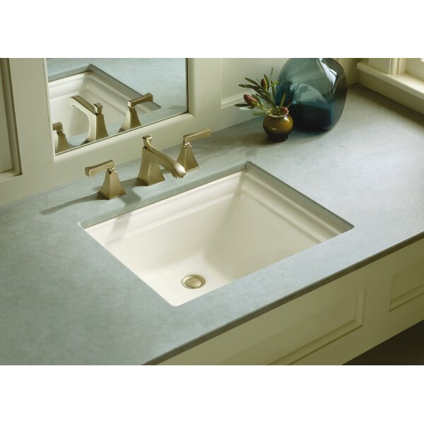 Memoirs Vitreous China Rectangular Undermount Bathroom Sink with Overflow by Kohler